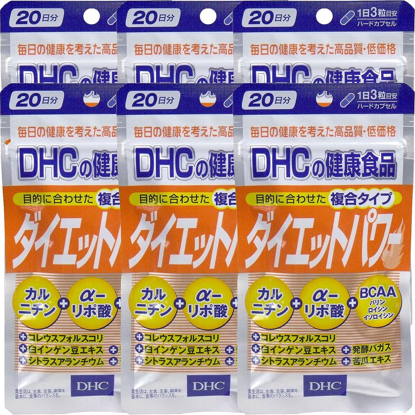 うんパイ離れたDHC ダイエットパワー 20日分(60粒) ×6個