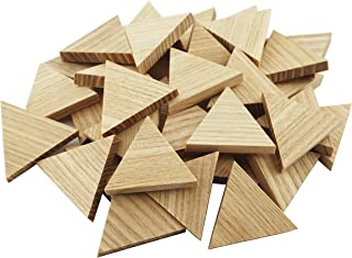 "1.34"" Wood Triangle Cutout Shapes Unfinished Wood Mosaic Tile - 40 pcs"