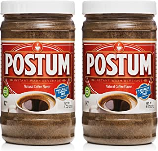 Postum Wheat Bran & Molasses Coffee Alternative (2 x 8oz) | Caffeine Free Instant Coffee Substitute | Natural Blend, Rich,...