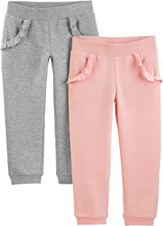 Toddler Girls' 2-Pack Pull on Fleece Pants