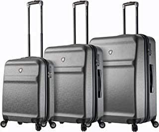Mia Toro Italy Gronchio Hardside Spinner Luggage 3pc Set,silver, One Size