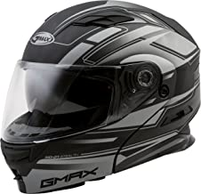 GMAX MD-01 Adult Stealth Modular Motorcycle Helmet - Matte Black/Silver / 3X-Large