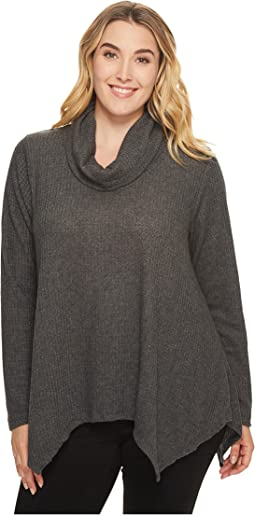 B Collection by Bobeau - Plus Size Analia Waffle Knit Top