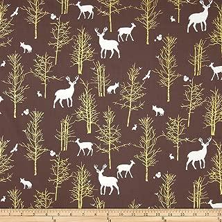 Michael Miller Brambleberry Ridge Timber Valley Metallic Bark Fabric
