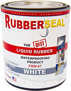 Rubberseal Liquid Rubber Waterproofing and Protective Coating - Roll On WHITE 16 ounces (16 ounces)