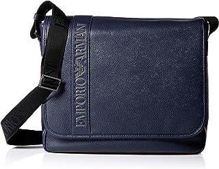 Emporio Armani mens Logo Flap Messenger Bag