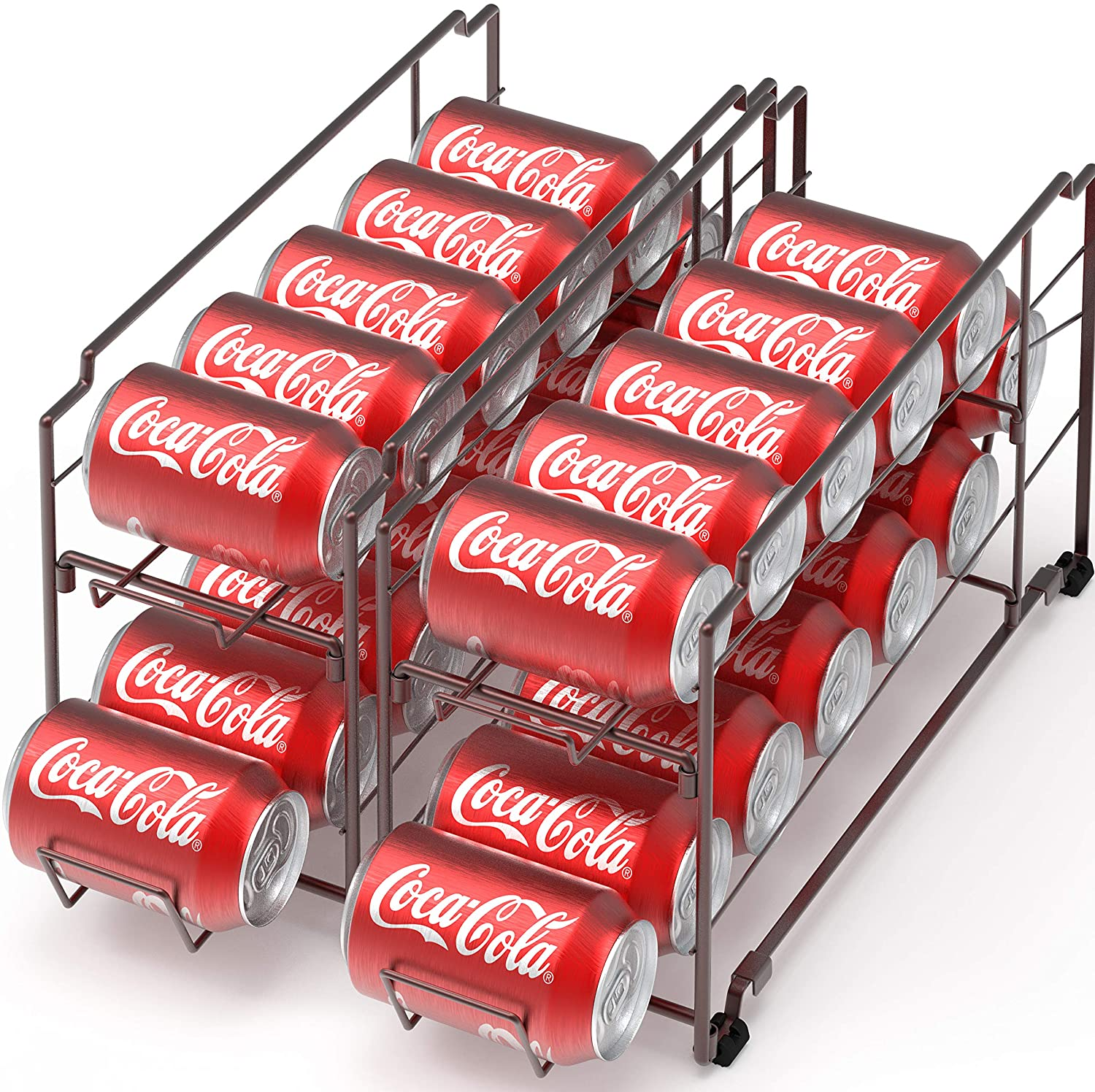 2 Columbus Mall Pack - Stackable Beverage Soda Dispenser Can B Organizer Rack Same day shipping