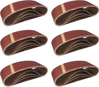 comprar comparacion Cinturones de Lijado de Tela │ 10 piezas │ 75 x 457 mm │ Mixpack (2 x grano 40/60/80/120/180 cada uno) │ para para amolado...
