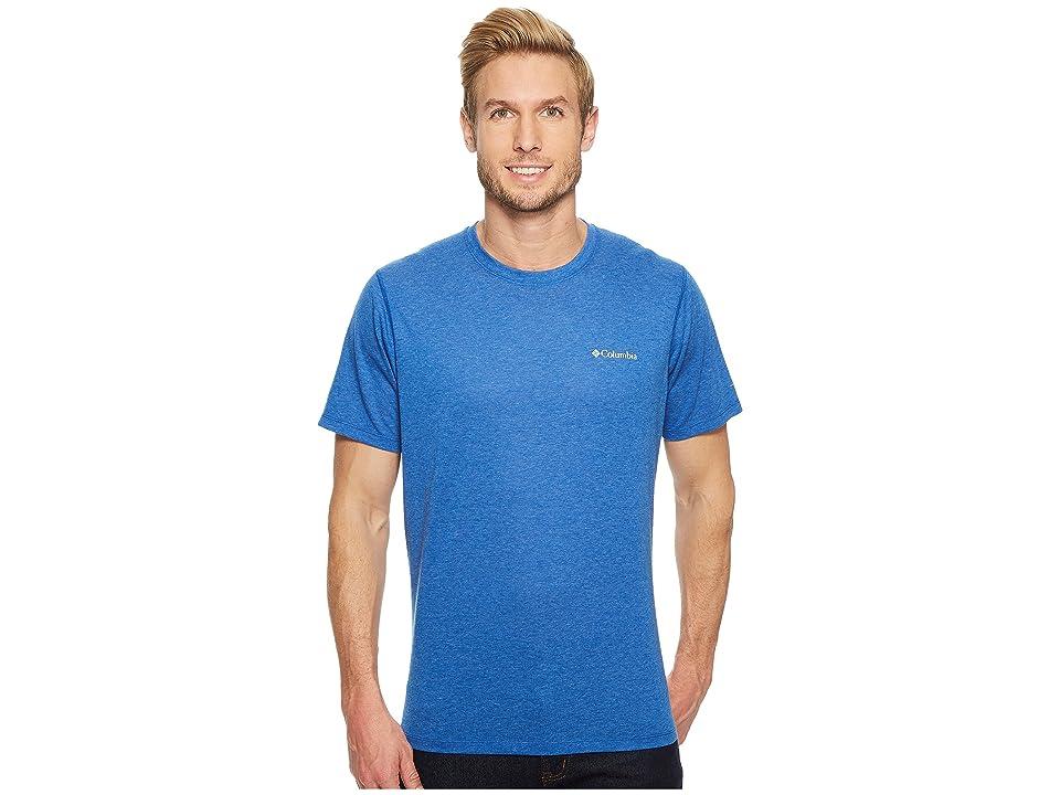 Columbia Silver Ridge Zerotm Short Sleeve Shirt (Azul Heather) Men