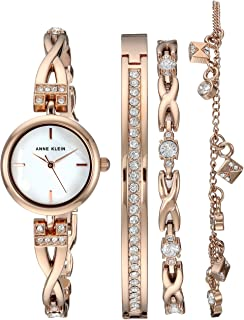Women's Swarovski Crystal Accented Watch and Bracelet Set