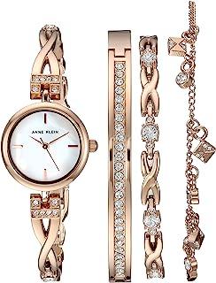 Anne Klein زنان کریستال Swarovski کریستال Accented رز طلا طلا دیده بان و مجموعه دستبند