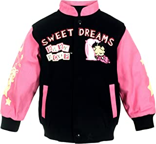 JH Design Girl's Betty Boop Baby Sweet Dreams Snap Up Jacket Toddler & Youth