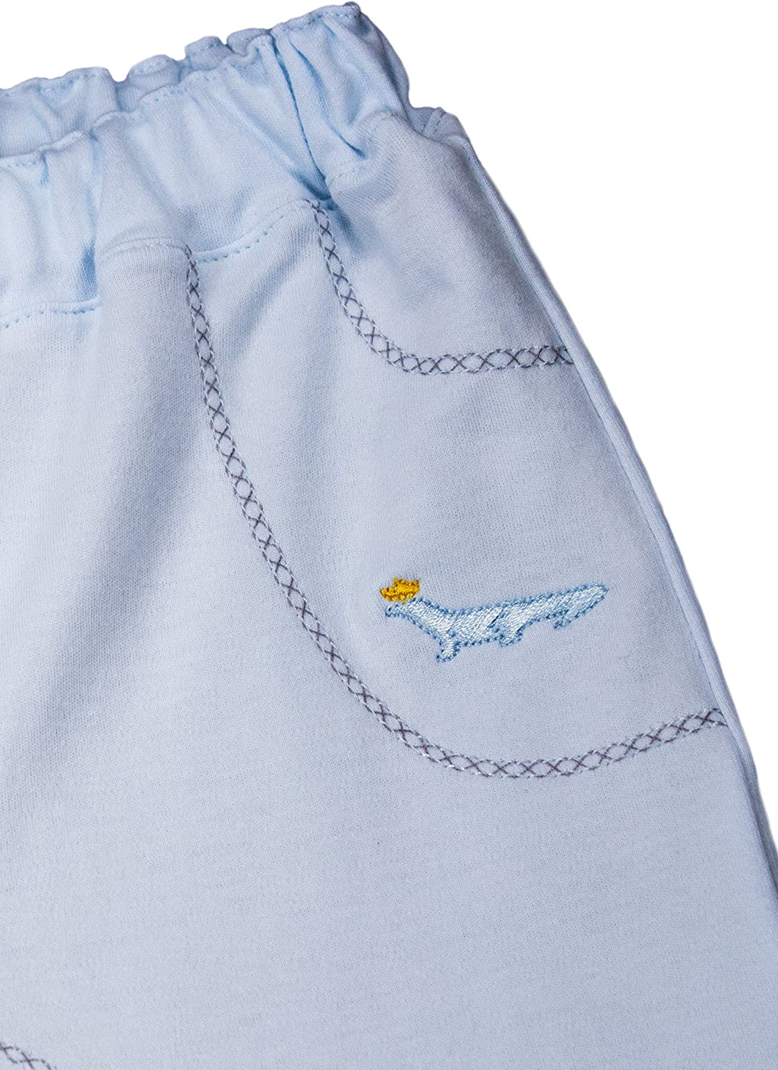 Baby Boys Pant and Top Set 100/% Pima Cotton Blue and White Outfit