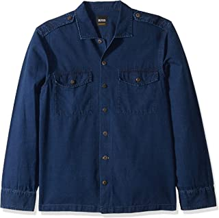 Hugo Boss Men's Lovel Indigo Military Overshirt