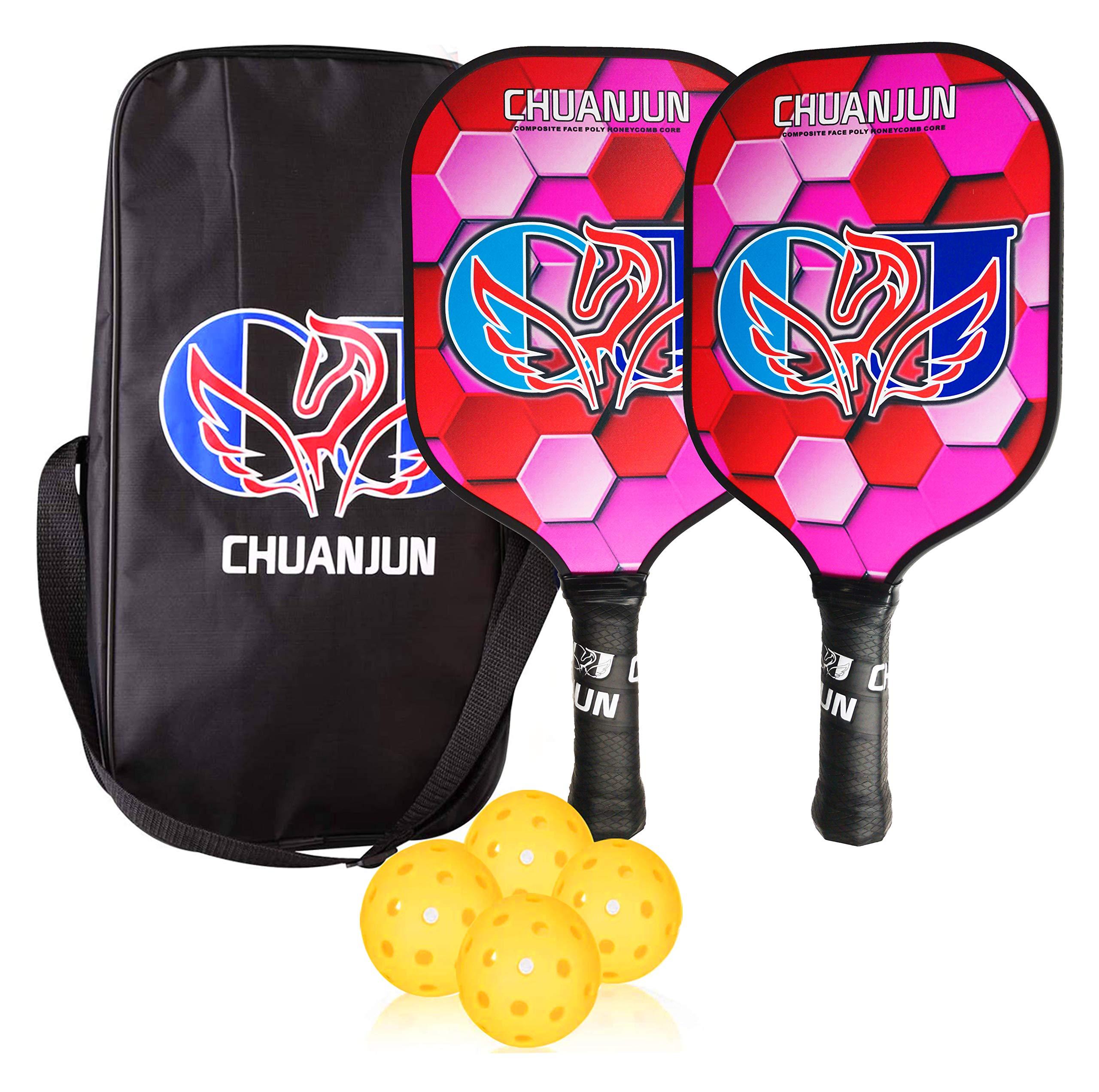 chuanjun Pickleball Paddles Set Composite Pickleball Racket