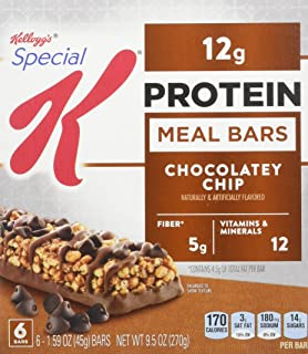 Kellogg's Special K Protein Meal Bars, Chocolatey Chip, 6 Count Box (Pack of 3)