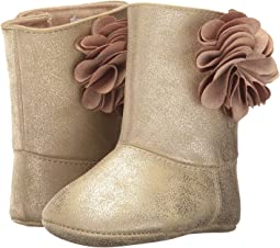 Soft Sole Shimmer Boot with Flower (Infant)