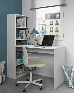 Habitdesign 008314A - Escritorio y estantería reversible,