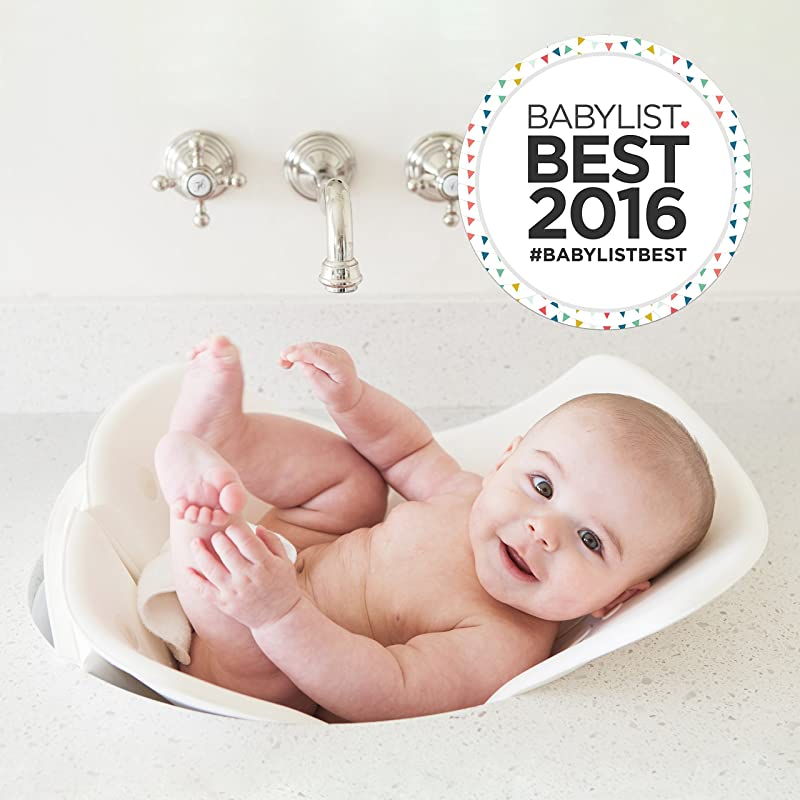 Puj Tub The Soft Foldable Baby Bathtub Newborn Infant 0 6 Months In Sink Baby Bathtub BPA Free PVC Free White