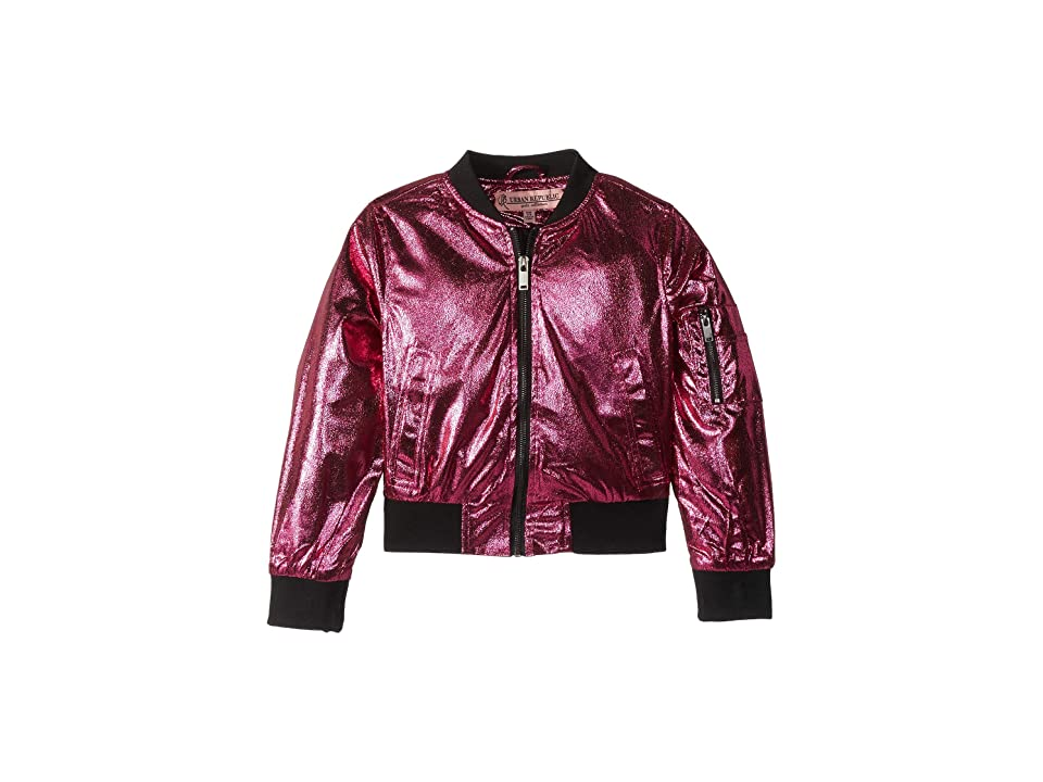 Urban Republic Kids Ziggy Metallic Bomber Jacket (Little Kids/Big Kids) (Magenta) Girl