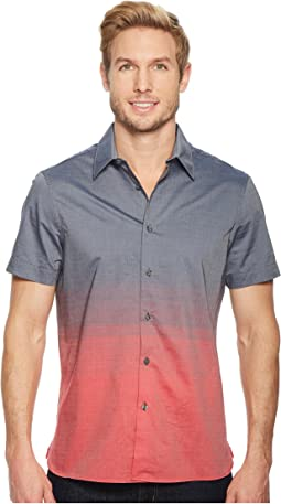 Perry Ellis - Short Sleeve Ombre Horizontal Pattern Shirt
