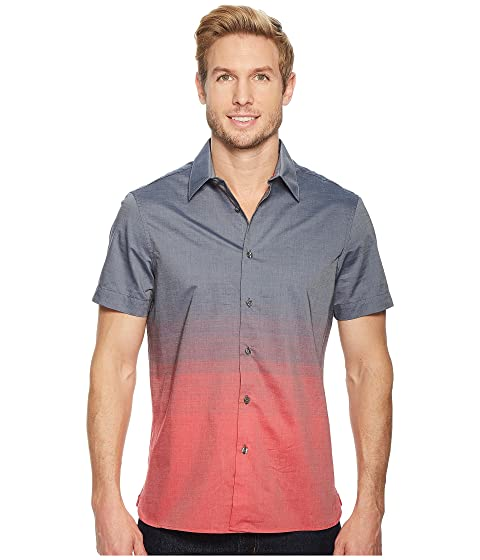 Ellis Ombre Shirt Pattern Sleeve Horizontal Perry Short 6zgpdw6q