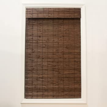 Radiance Cordless Dockside Flatstick Bamboo Roman Shade, 27 in. W x 64 in. L, Cocoa