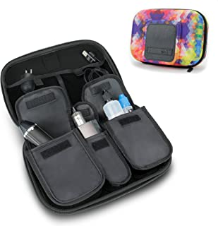 USA Gear Vape and Accessory Carrying Case - Premium E-Cigarette Vape Mod Travel Pen Large Organizer - Compatible with Innokin, Janty, Halo Cigs, 777 E-Cigs and More Electronic Cigarettes - Geometric