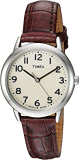 Timex Women's Easy Reader Leather Strap 30mm Watch