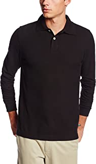 Lee Uniforms Men's Modern Fit Long Sleeve Polo