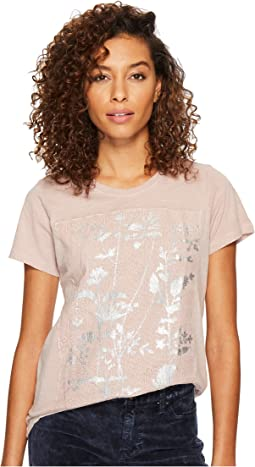 Lucky Brand - Printed Lace Tee