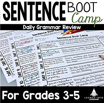 Sentence Boot Camp  100 Days of 5-Minute Grammar Practice for Grades 3-5
