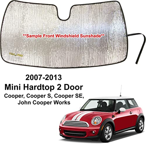 wholesale YelloPro Custom new arrival Fit Automotive Reflective Front Windshield Sunshade Accessories UV Reflector for 2007 2008 2009 2010 2011 2012 2013 Mini Cooper, Cooper S, Cooper SE, John Cooper sale Works, Hardtop 2 Door outlet sale