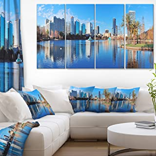 Designart Orlando Morning-Cityscape Photo Canvas Art Print-48x28-4 Panels, 28'' H x 48'' W x 1'' D 4P