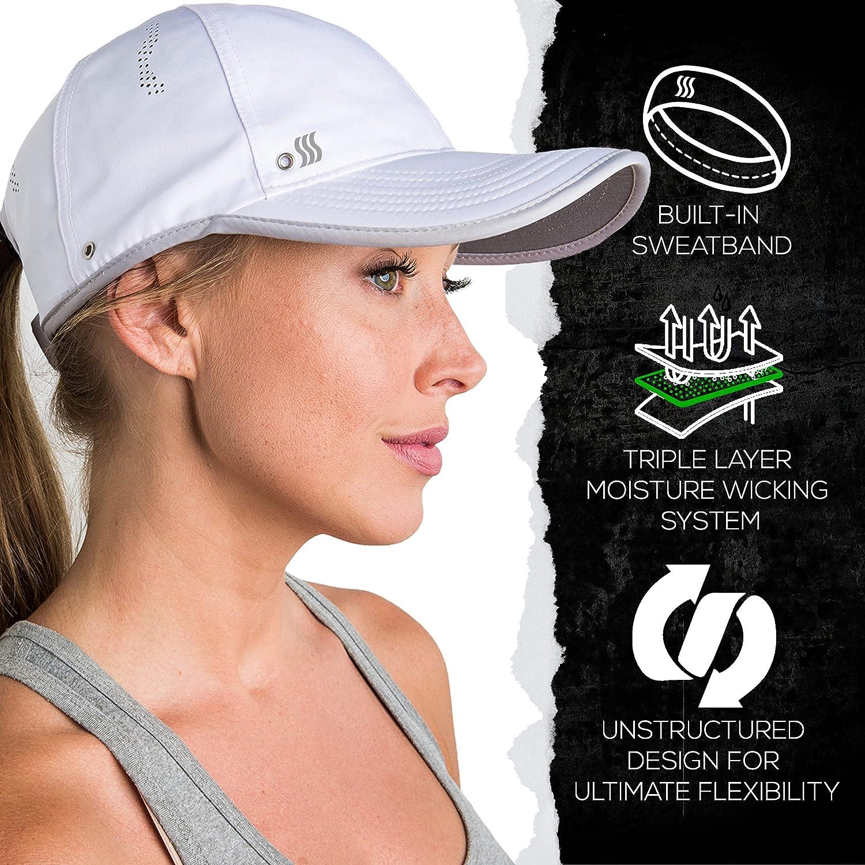 SAAKA Featherlight Sports Hat. Premium Packaging. Lightweight, Quick Drying. Running, Tennis & Golf Cap for Women & Girls: Clothing