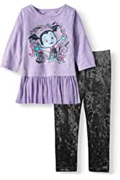 Size 5T Red Minnie Mouse Time for A Makeover Toddler Girls Flannel Pajama Set White