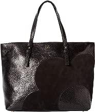 Orla Kiely Black Sparkle Leather Tillie Shoulder Bag