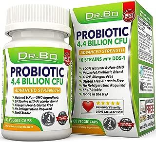 Dr. Bo Vegan Probiotics for Women Men - Lactobacillus Acidophilus and Rhamnosus Probiotic Capsules with Prebiotics and Bifidobacterium Longum - Non Refrigerated Daily Digestive Gut Health Supplement