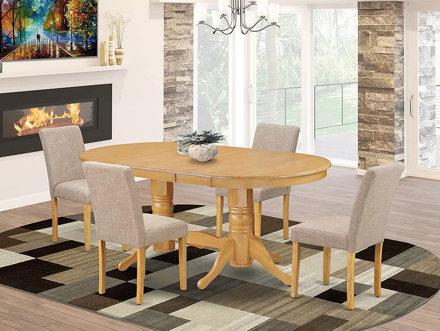 5 Pc Dining Room Set For Sales results No. specialty shop 1 4- Chai And Table Four With Parson Leaf