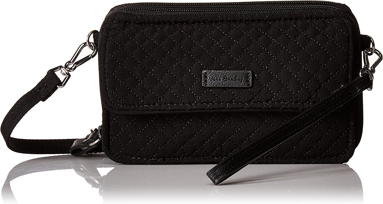 Vera Bradley Microfiber All in One Crossbody Purse with RFID Protection