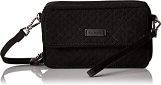 Microfiber RFID All in One Crossbody, Classic Black