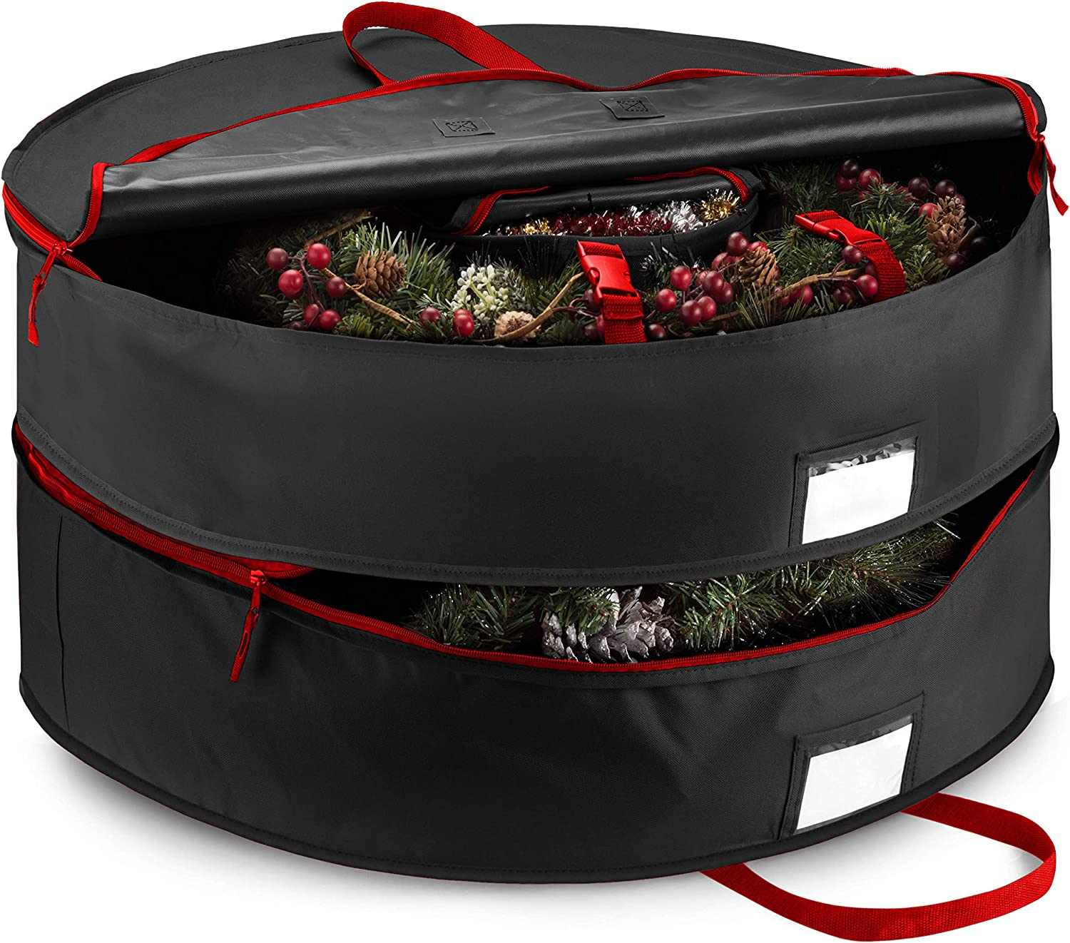 """! Super beauty product restock quality top! Double Premium Christmas Wreath Seattle Mall Storage With Bag 24"""" Compartmen"""