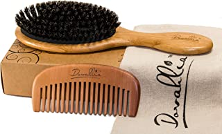 Boar Bristle Hair Brush Set for Women and Men – Designed for Thin and Normal Hair..