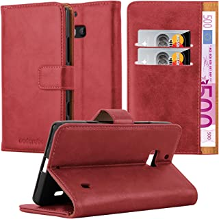 Cadorabo Book Case Compatible with Nokia Lumia 929/930 in Wine RED - with Magnetic Closure, Stand Function and Card Slot -...