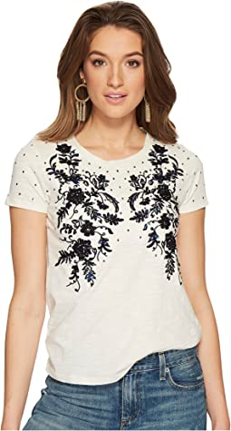 Lucky Brand - Embroidered Sequin Tee