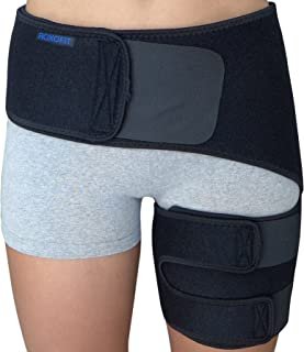 Hip Brace - Groin Support for Sciatica Pain Relief Thigh Hamstring Quadriceps Hip Arthritis - Best Compression Groin Wrap ...