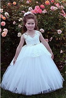 c784c46b736 TriumphDress Little Girls Ivory Lace Sweetheart Bloom Flower Girl Dress 4-7