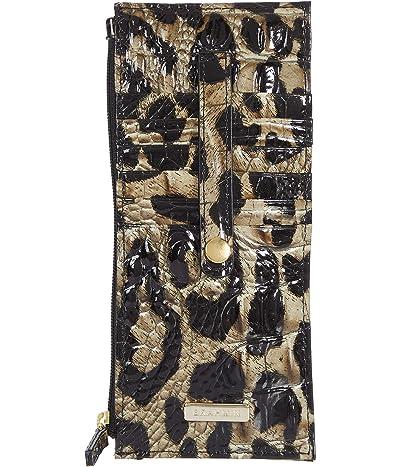 Brahmin Melbourne Credit Card Wallet (Snow Leopard) Wallet Handbags