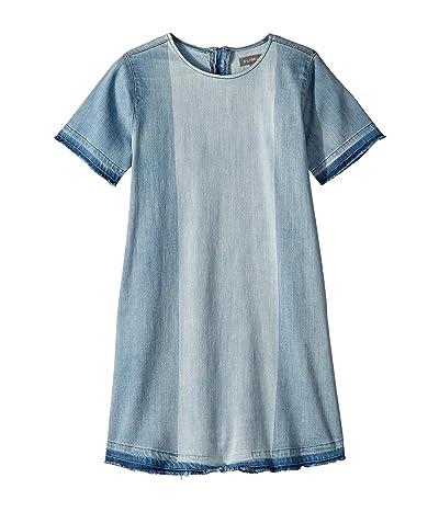 DL1961 Kids Kiki Short Sleeve Dress (Big Kids) (Blue Coast) Girl