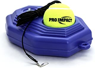 Pro Impact Tennis Trainer Rebounder Ball, Trainer Baseboard with Long Rope, Perfect Solo Tennis Trainers Round and Rectangular